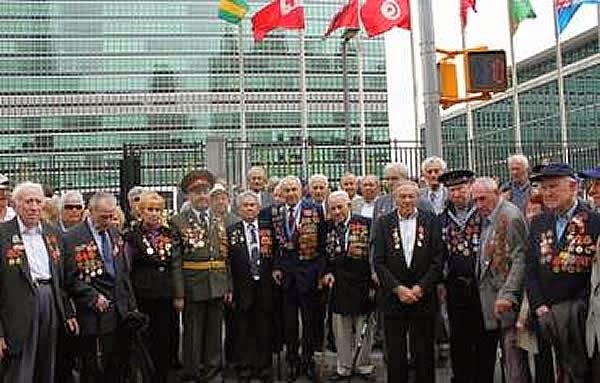 Veteranos judíos rusos de la Segunda Guerra Mundial honrados en la ONU