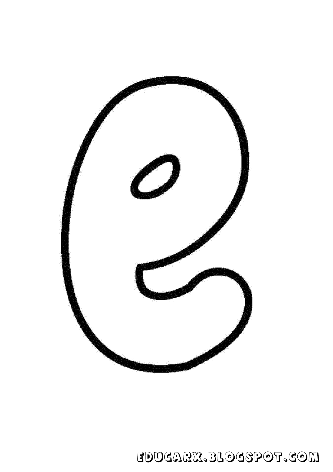 Molde da letra minuscula e