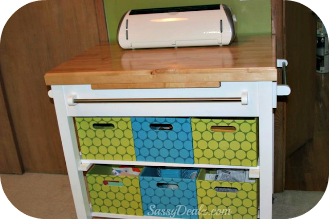utilitary cart for scrapbooking and craft rooms