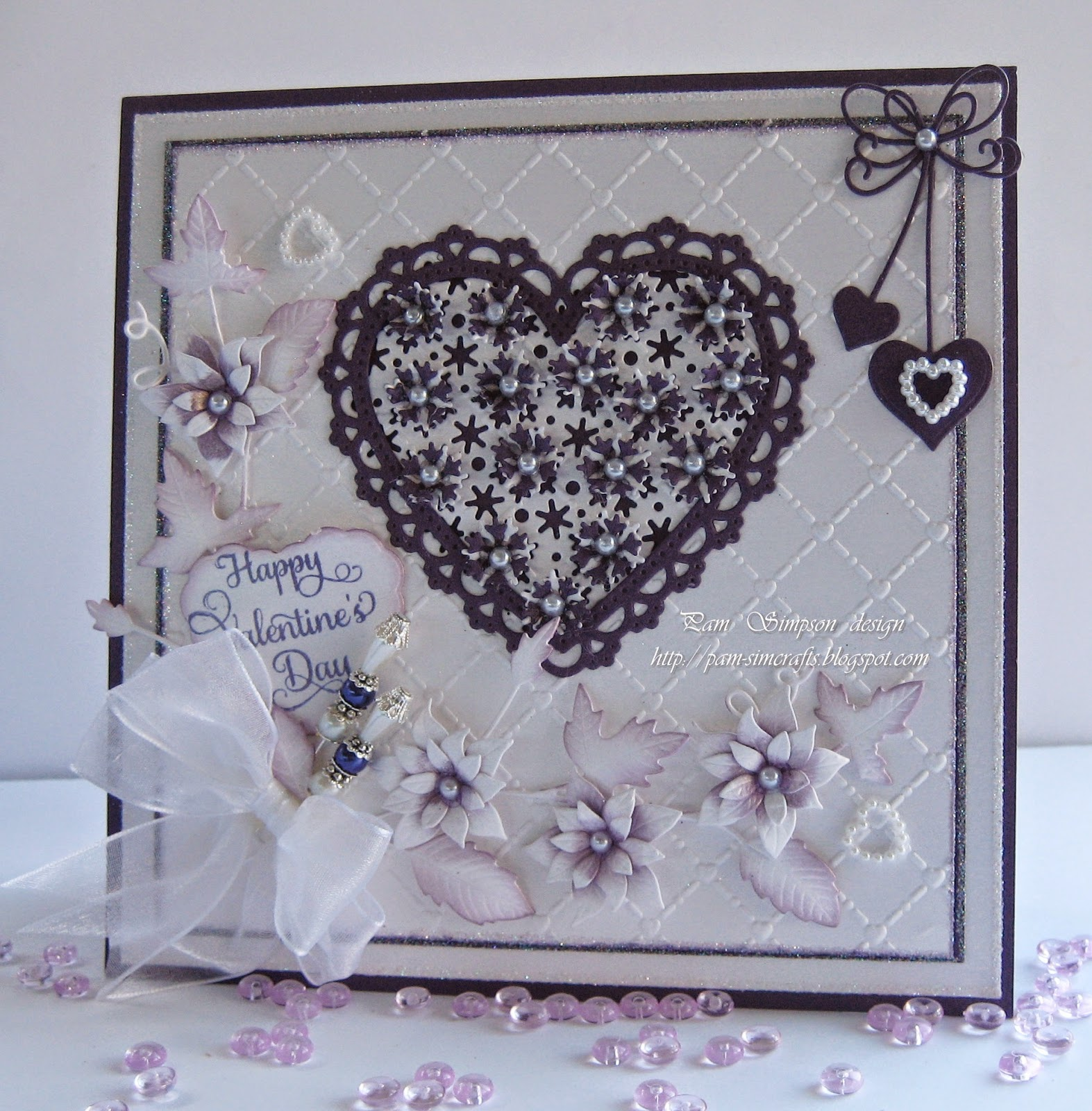 Pamscrafts Valentine Card Using Christmas Dies From