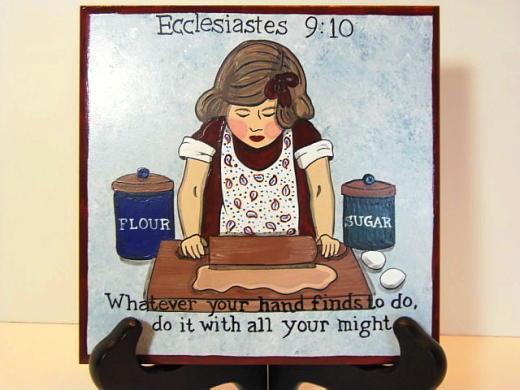 Ecclesiastes Painted Ceramic Tile