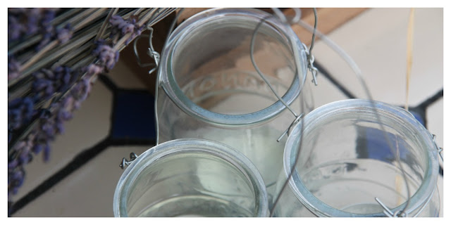 lanterns with yogurt jars