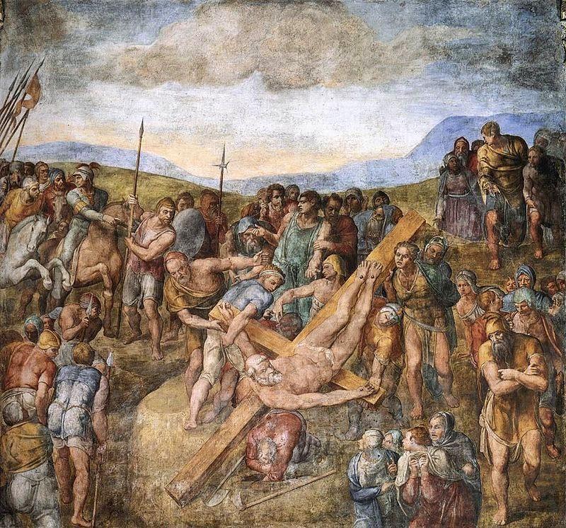 Michelangelo - martirio di San Pietro (cappella Paolina)