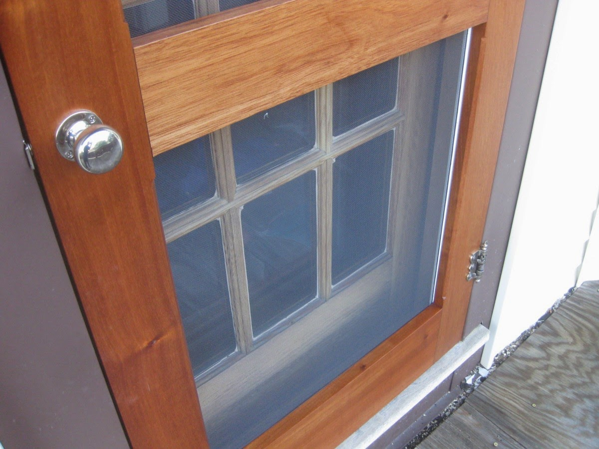 900 #8C4930 Needed Two Storm Screen Doors For Exterior Entry Doors At My House  picture/photo Cedar Front Doors 42791200