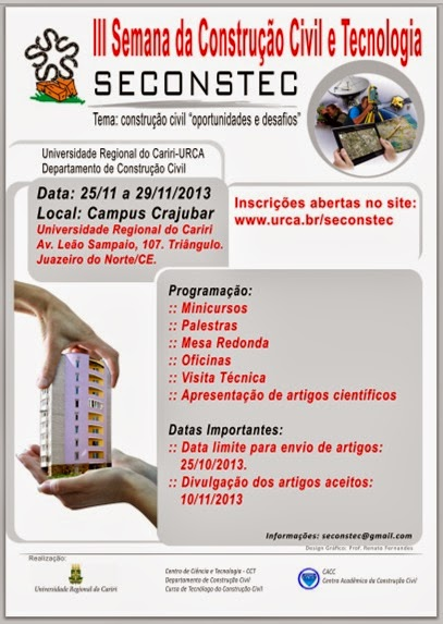 III Semana da Construção Civil da URCA em novembro