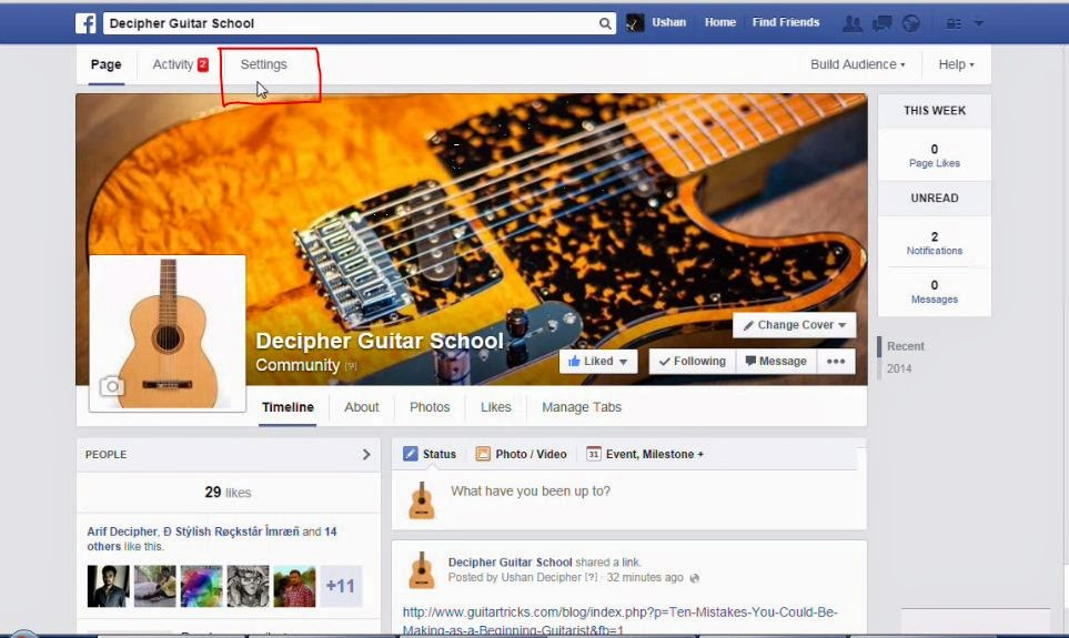 how to turn off commenting on facebook page