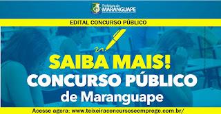 Edital Concurso Prefeitura de Maranguape (CE) 2015.