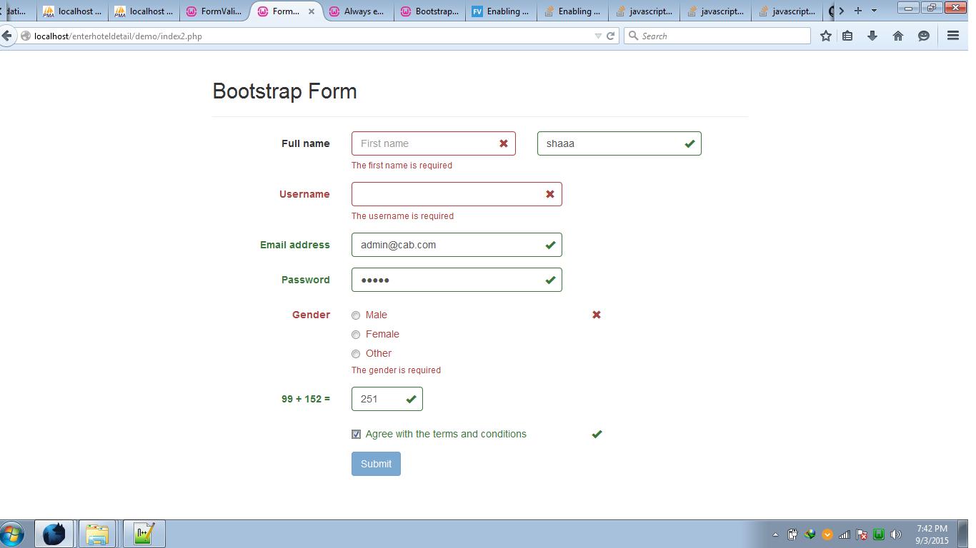 Insert Boostrap Formvalidation form data into mysql using php ...