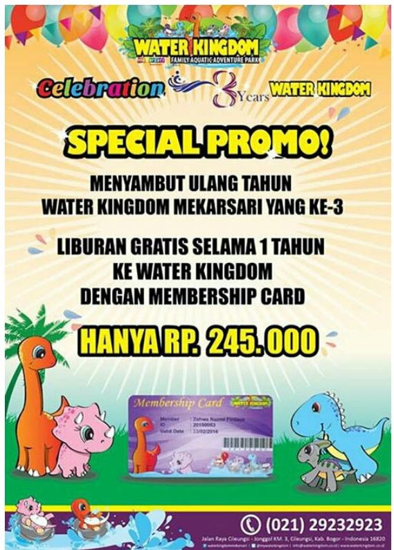 Promo Harga Tiket Water Kingdom Terbaru Desember 2015