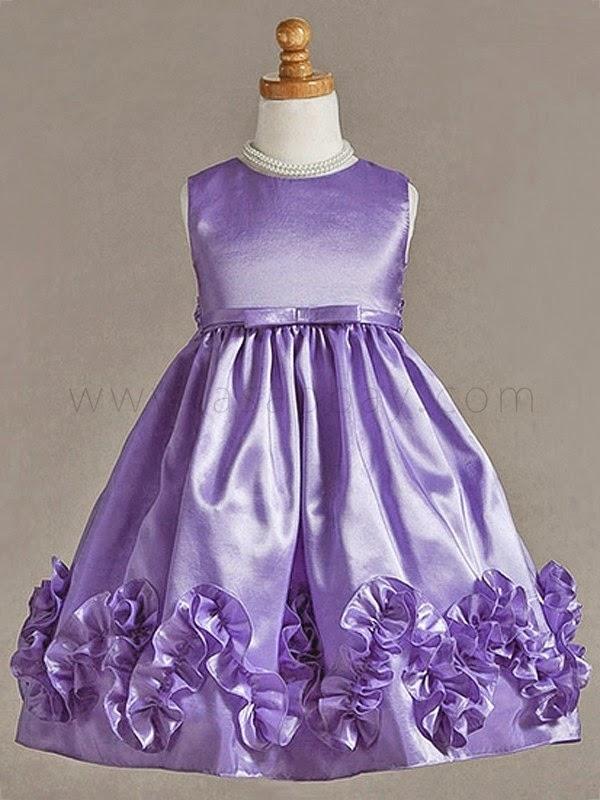 Vestidos Color Purpura, Niña de las Flores