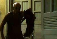 Personagem da novela Avenida Brasil, carrega gato preto para assustar Tessália