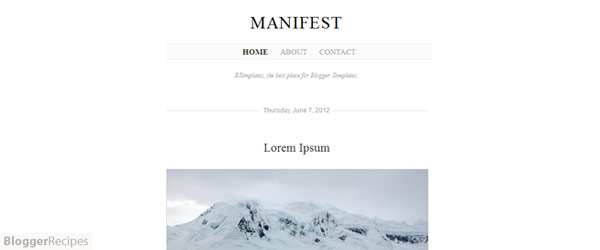 20+ Free Clean & Minimalist Blogger Templates