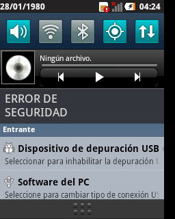 Security error LG optimus L3, L5 & L7