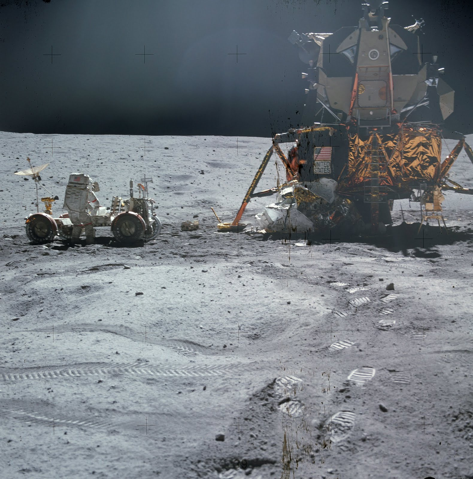 Apollo 16 lands on Moon - April 20, 1972 ~ vintage everyday