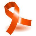 fita laranja símbolo da conscientização sobre esclerose multipla