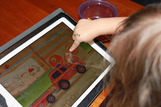 Shape sorting in FireTrucks: 911 iPad app