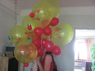 букет шаров, воздушные шарики, шары, надутые гелием, шары мордочки, креативные шары