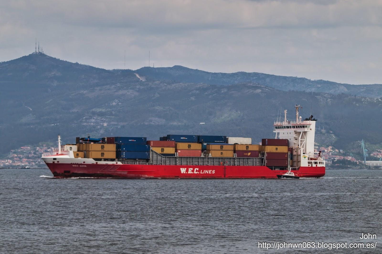 wec goya, puerto de vigo, fotos de barcos, imágenes de barcos, contenedores, tecnología