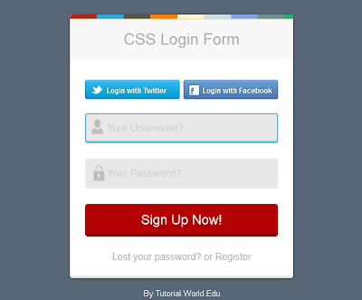 How To Create Simple Login / Sign Up Form Using CSS And HTML