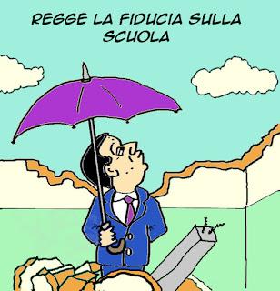 #labuonascuola, fiducia, senato vignetta satira