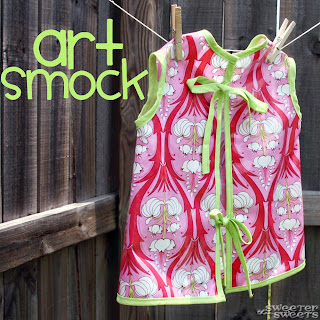 Oilcloth Art Smock by Tricia @ SweeterThanSweets