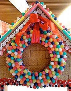 Guirlanda de jujubas - decorações para ceia de Natal