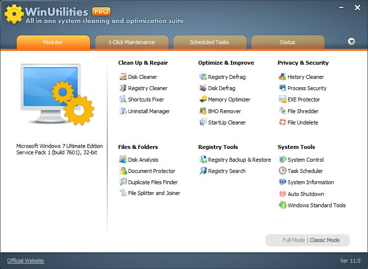 WinUtilities Professional 11.20