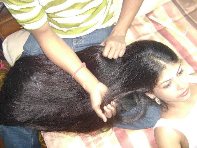 April long hair brushing 10