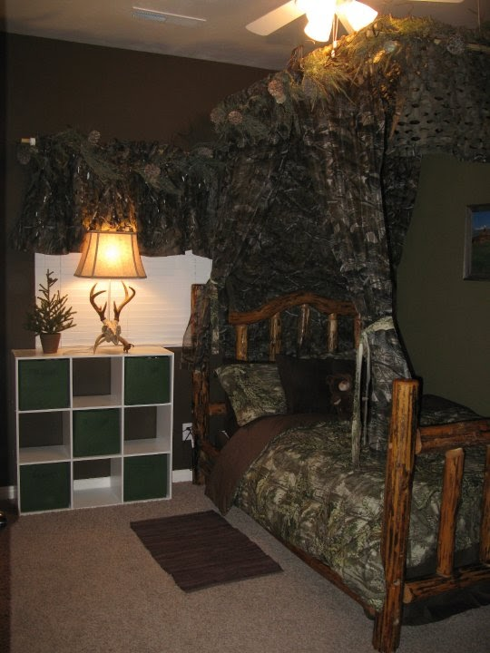 The funky letter boutique how to decorate a boys room in for Camo bedroom ideas