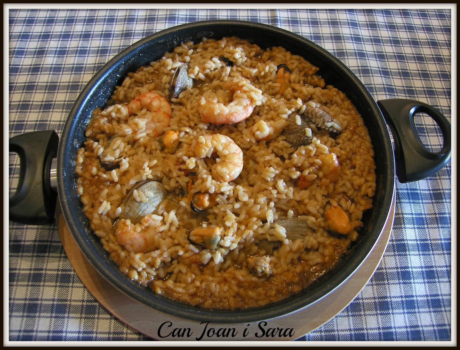 Paella marinera con fumet de marisco maheso recetas de cocina - Cocina con sara paella ...