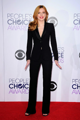Bella Thorne wears black trouser Armani dress 41st Annual People's Choice Awards Dresses