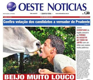 corinthiano beija vaca no CQC