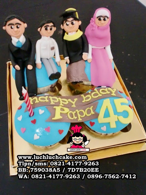 Cupcake Ulang Tahun Tema Keluarga Daerah Surabaya - Sidoarjo