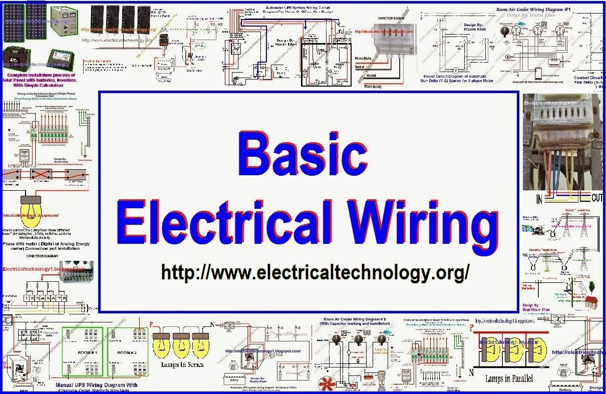 Basic Electrical Wiring, Solar panel wiring, Batteries wiring, UPS ...