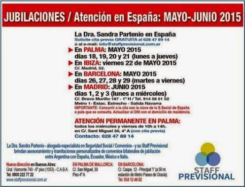 Jubilaciones: Atención en España en mayo y junio de 2015