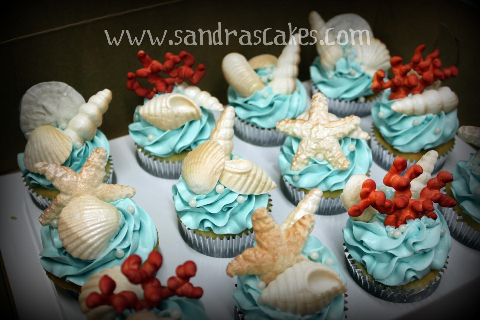 Beautiful Cupcakes For A Beach Wedding