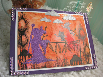Halloween in orange with Lavinia witch stamp last view