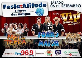 ANIVERSÁRIO DE 08 ANOS DA RÁDIO ATITUDE FM DE ITAPAJÉ SERÁ SHOW!!!