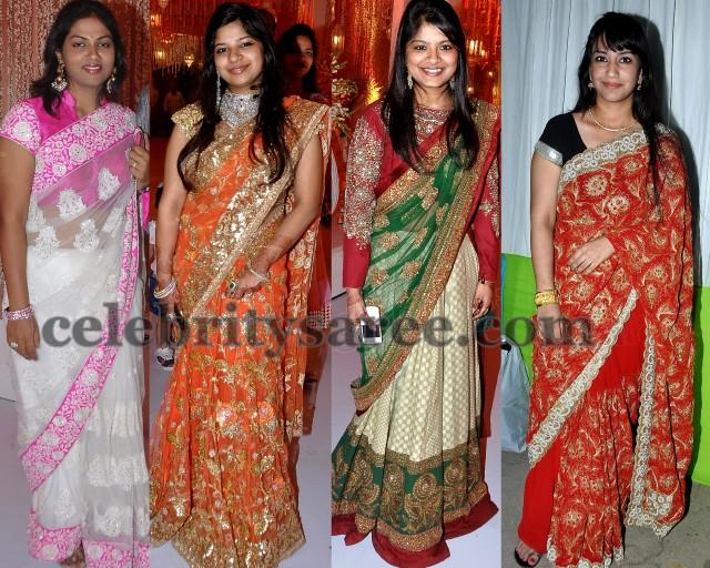 Celebrities in Trendy Work Sarees