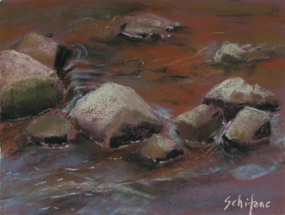 Bog River Falls, Adirondack artist