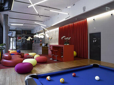 google office in switzerland. Google Has Installed In Zurich, Switzerland, An Office That Could Pass For Amusement Park Where You Can Play Pool, Pinball, Slide Through The Toboggan To Switzerland H