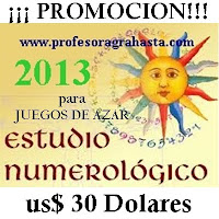 ESTUDIO NUMEROLOGICO - 2013