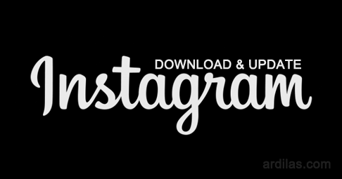 Logo teks - Cara Download & Install Aplikasi Instagram - Android