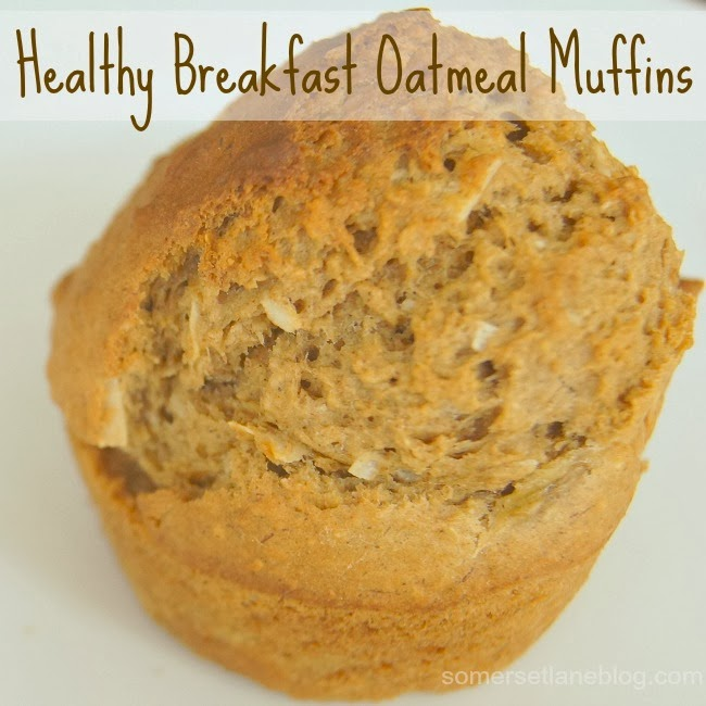 Healthy Breakfast Oatmeal Muffins, substituting apple sauce in recipes