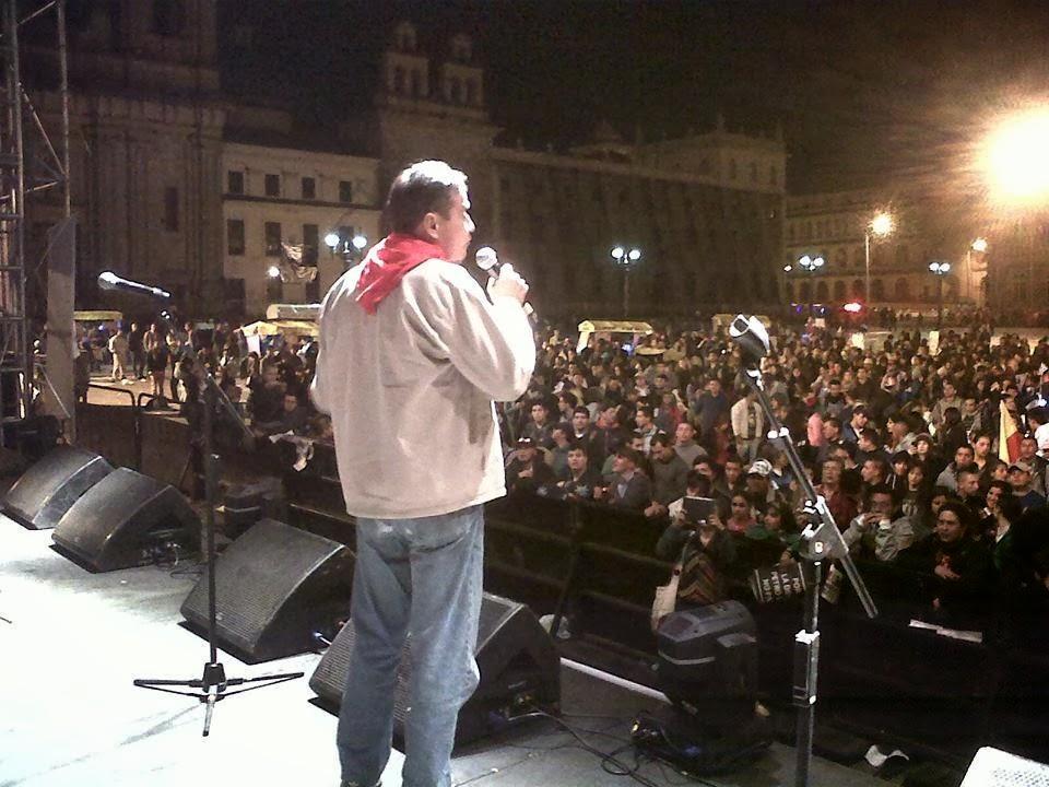 David Corredor en Bogotá con Gustavo petro