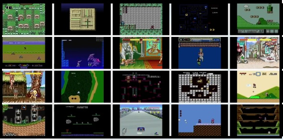 Screenshot of 20 games coming to the Wii U Virtual Console, including The Legend of Zelda: A Link to the Past, Mega Man, Street Fighter 2, Super Ghouls 'n Ghosts, Super Mario Bros., and much more.