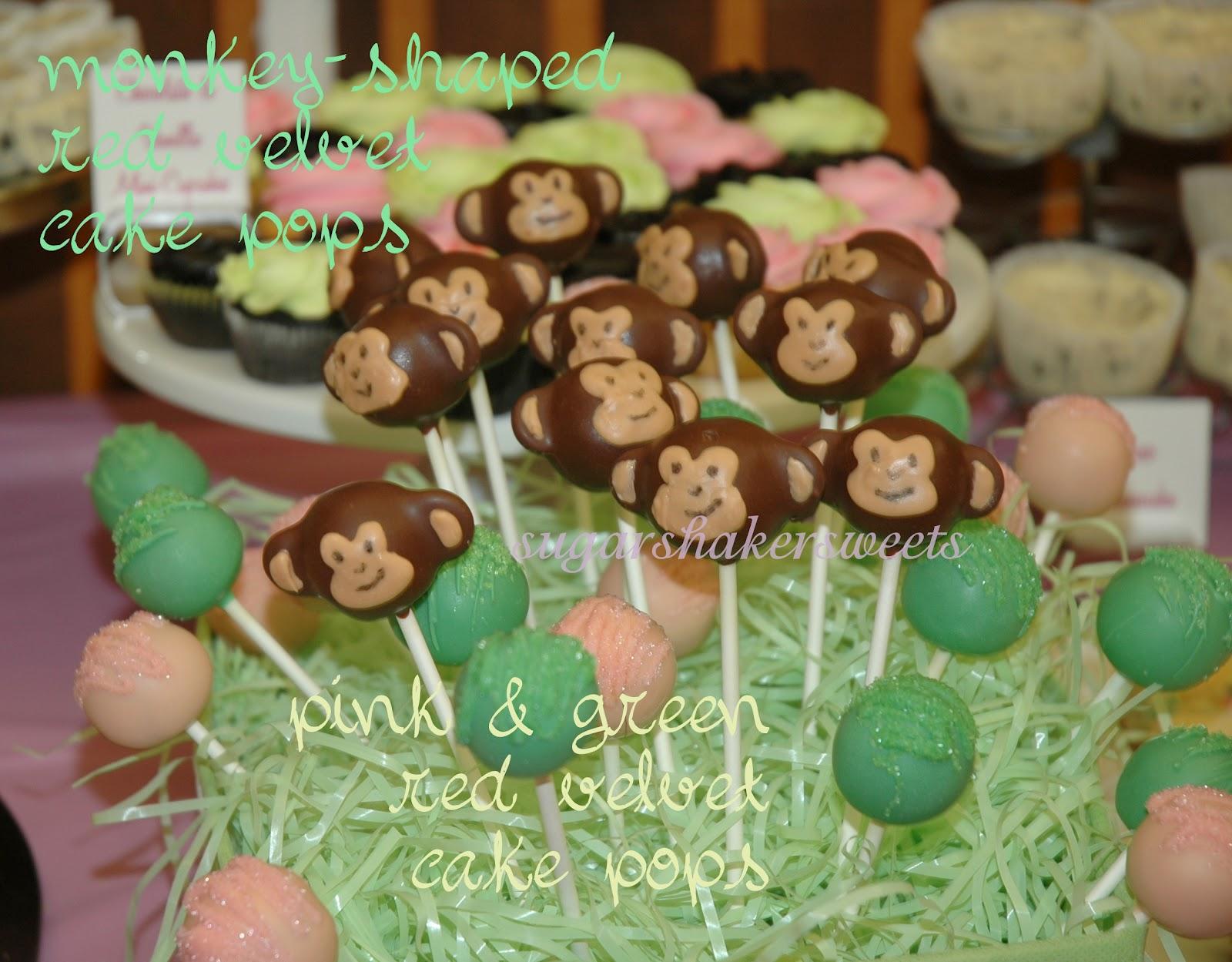 Sugar Shaker Sweets Baby Shower Monkey Cake Pops