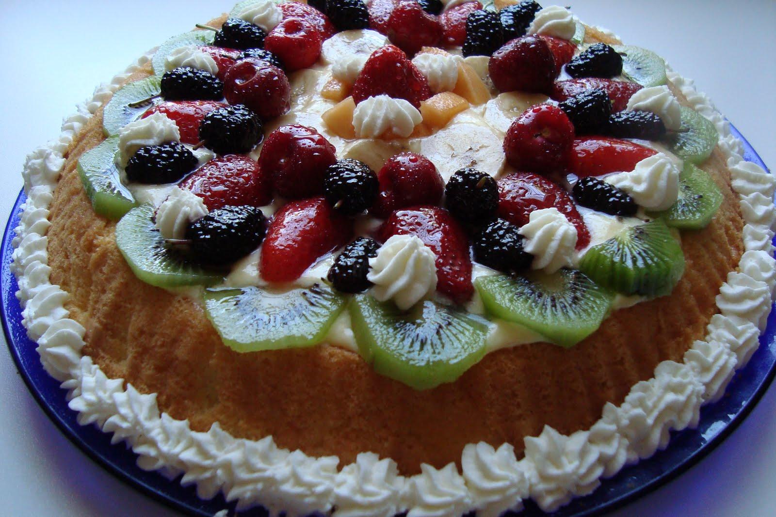 La mia amata cucina torta di frutta fresca - Differenza panna da cucina e panna fresca ...