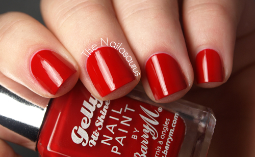 Barry M Gelly Blood Orange Swatch
