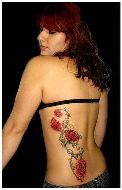 Back Girls Flower Tattoo design